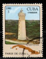 C+ Kuba 1980 Mi 2512 San Antonio Leuchtturm - Oblitérés