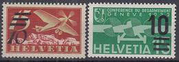 SCHWEIZ  285-286 A, Postfrisch **, Flugpostmarken 1935 - Ungebraucht
