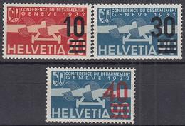 SCHWEIZ  291-293c, Postfrisch **, Flugpostmarken 1936 - Ungebraucht