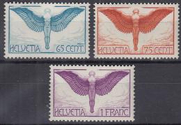 SCHWEIZ  189 Z II, 190 Z, 191 Z, Postfrisch **, Ikarus, 1924 - Ungebraucht