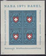 SCHWEIZ Block 21, Postfrisch **, NABA 1971 - Blocks & Kleinbögen