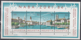 SCHWEIZ Block 24, Postfrisch **, NABA ZÜRI 1984 - Blocks & Kleinbögen