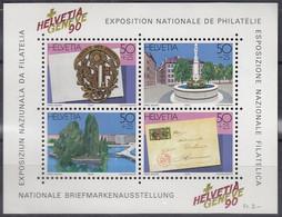 SCHWEIZ Block 26, Postfrisch **, HELVETIA GENEVE 1990 - Blocks & Kleinbögen