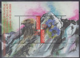 SCHWEIZ Block 33, Postfrisch **, TICINO 2003 - Blocks & Kleinbögen