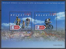 SCHWEIZ Block 35, Postfrisch **, Fahrradland Schweiz 2004 - Blocks & Kleinbögen