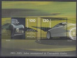 SCHWEIZ Block 38, Postfrisch **, 100 Jahre Automobilsalon Genf 2005 - Blocks & Kleinbögen