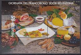 SCHWEIZ Block 43, Postfrisch **, Tag Der Briefmarke: Bellinzona 2008 - Blocks & Kleinbögen