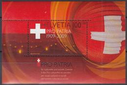 SCHWEIZ Block 44, Postfrisch **, 100 Jahre Pro Patria 2009 - Blocks & Kleinbögen