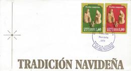 COSTA RICA CHRISTMAS, HOLY FAMILY, CRECHE, Sc C773-4 FDC 1979 - Costa Rica