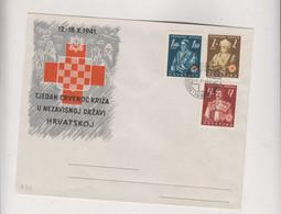 CROATIA WW II 1941 Red Cross FDC Cover - Croacia