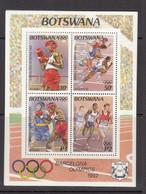 1992 Botswana Olympics Barcelona Boxing  Souvenir Sheet MNH - Botswana (1966-...)