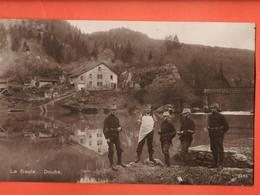 ZLA-05 RARE  Le Noirmont, La Goule Au Bord Du Doubs,ANIME Militaires. Envoyé En 1921 Du Creux-des-Biches Vers Boncourt - JU Jura