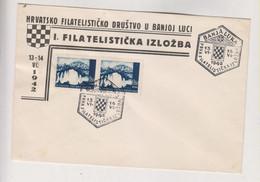 CROATIA WW II, BANJA LUKA  Stamp Expo 1942  Cover - Croacia