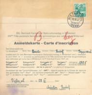 Karte  Dieterswil - Wilderswil   (Nationalturner)         1947 - Briefe U. Dokumente