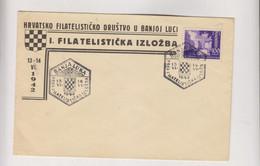 CROATIA WW II, 100 Kn FI BANJA LUKA 1942 FDC Cover - Croacia