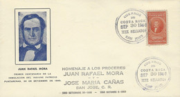 Costa Rica Tribute To The Heroes,Juan Rafael Mora,Sc C87 (1943) Cover 1960 - Costa Rica
