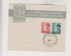 CROATIA WW II 1943 Pavelic FDC Cover - Croacia