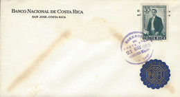COSTA RICA ALFREDO GONZALEZ FLORES, NATIONAL BANK, EMBLEM Sc C399 FDC 1965 - Costa Rica