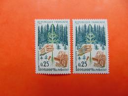 N° 1460b**  Main Verte   Cote: 575€ - Variétés: 1960-69 Neufs