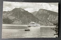 Motorschiff ,Jungfrau' Auf Thunersee/ Photo Gyger Adelboden - BE Berne