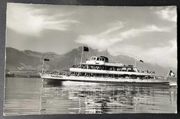 Motorschiff ,Jungfrau' Auf Thunersee/ Stockhorn/ Photo Gyger Adelboden - BE Berne