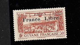 GUYANE PA YT 11 SURCHARGE France Libre NEUF SANS GOMME TB Signé...Assez Rare. - Neufs