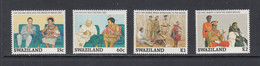 1989 Swaziland King's Birthday Pope John Paul II Cultural Costumes Complete Set Of 4 MNH - Swaziland (1968-...)