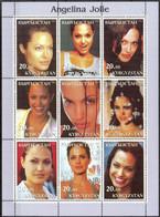 {F0251} LABEL Music Cinema Actors Angelina Jolie Sheet Of 9 MNH Cinderella ! - Fantasie Vignetten