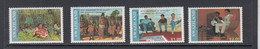 1990 Swaziland Coronation Of The King Costumes Complete Set Of 4 MNH - Swaziland (1968-...)