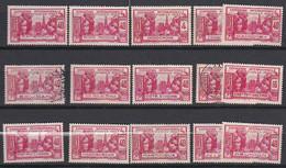 Ou068 Détail  Exposition Internationale Paris 1937 15 Valeurs NSG (O) - 1937 Exposition Internationale De Paris