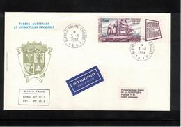 French Antarctica TAAF 1984 Interesting Letter - Briefe U. Dokumente