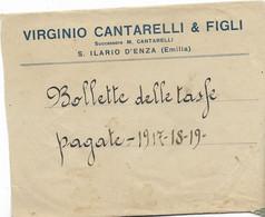 8-S.ILARIO D ENZA.VIRGINIO CANTARELLI & FIGLI-BUSTA INTESTATA - Reggio Nell'Emilia