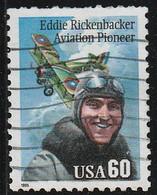 USA 1995 Scott 2998 Sello º Aviador Eddie Rickenbacker (1890-1973) Avion Michel 2642 Yvert 2441 Estados Unidos United St - Usados