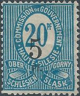 POLONIA - POLAND- 1920 COMMISSION DE GOUVERNMENT Gornyj Slask Slesia 5/20Pf - Silesia (Lower And Upper)