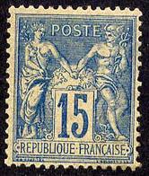 A090 YT 101 Sage II 15c Bleu N* - 1876-1898 Sage (Type II)