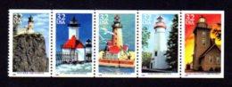 ETATS-UNIS / USA 1995 - Yvert #2343/2347 - Scott #2969/2973 - Neufs ** / MNH - Phares Des Grands Lacs, Lighthouse - Nuevos