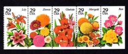 ETATS-UNIS / USA 1994 - Yvert #2223/2227 - Scott #2829/2833 - Neufs ** / MNH - Flore, Fleurs De Jardins - Nuevos