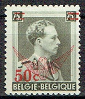 Leopold III Surchargé Pour Service - Service