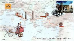 Albania Stamps 2020. Europa CEPT: Ancient Postal Routes. FDC Set MNH - Albania