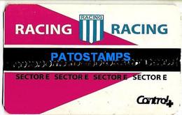 154482 ARGENTINA SPORTS SOCCER FUTBOL RACING VS UNIVERSITARIO PERU TICKET ENTRADA NO POSTAL POSTCARD - Unclassified