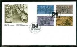 Guerre Mondiale II / World War II; P.P.J. / F.D.C.; Timbres Scott # 1345-8 Stamps (4618) - Cartas