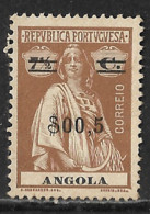 Angola – 1921 Ceres Type $04 Over 15 Centavos - Angola