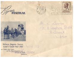 (JJ 36) Australia - 1954 - Ballarat Begonia Festival  (spelled Ballaarat) - Briefe U. Dokumente