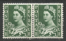 GREAT BRITAIN / WALES. QE2. 9d PAIR MOUNTED MINT - Ungebraucht