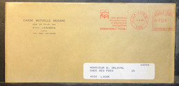Belgium - Advertising Meter Franking Cover Label EMA 1984 Jambes Mutual Fund Exceptional Daily Allowance Services - 1980-99