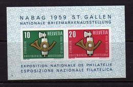 Suisse (1959)-  BF Exposition Philatelique NABAG  - Neufs** - MNH - Blocks & Kleinbögen