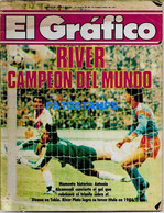 154524 ARGENTINA REVISTA EL GRAFICO RIVER CAMPEON DEL MUNDO ED Nº 3506 1986 NO POSTAL POSTCARD - [2] 1981-1990