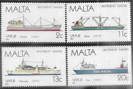 Malta  1987   Sc#703-6  Ships Set   MNH  2016 Scott Value $8.25 - Malta