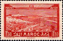 Maroc (Prot.Fr) Avion N** Yv: 36 Mi:119 Rabat (Petit Pt De Rouille) - Luftpost
