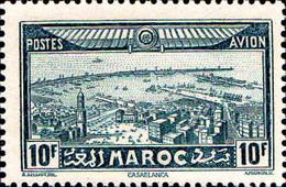 Maroc (Prot.Fr) Avion N** Yv: 39 Mi:122 Casablanca - Luftpost